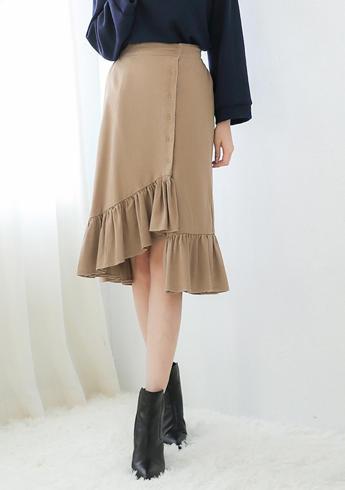 魚尾造型中長裙
