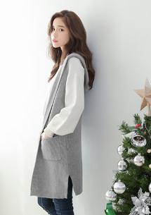 韓版連帽包芯紗針織外套