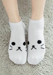 萌系貓咪舒適短襪