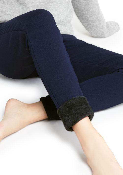 高彈柔細保暖絨窄管褲