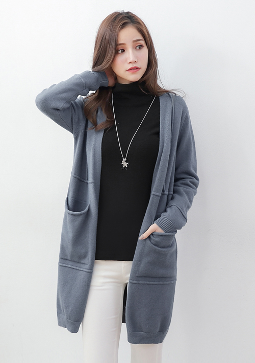 獨特設計包芯紗開襟外套