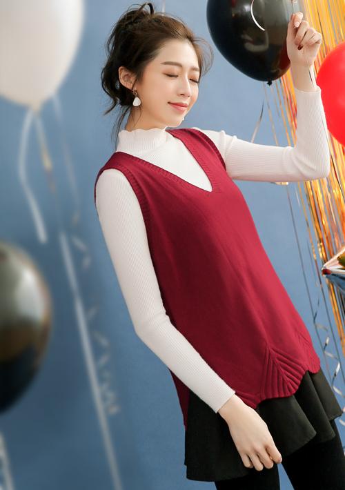 造型剪裁包芯紗針織背心