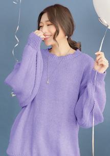 慵懶暖冬寬鬆針織毛衣