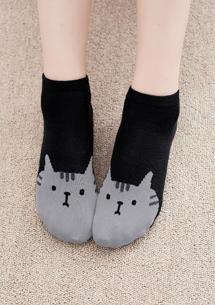 貓咪舒適棉柔短襪