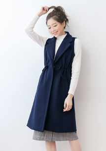 韓版時尚厚毛呢質感背心