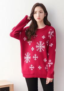雪花限定暖感針織毛衣