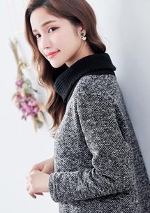 暖冬混色高領針織衫