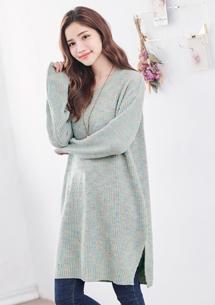 輕柔好感彩點針織毛衣