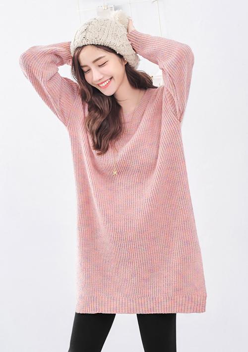 彩點針織毛衣