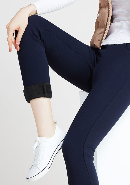 加厚保暖絨鉛筆褲
