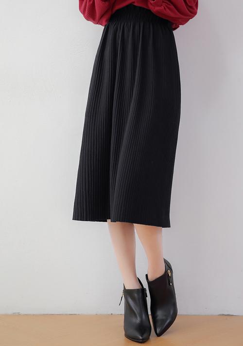 韓系顯瘦坑條針織傘裙