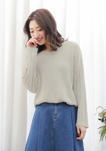 V領針織毛衣