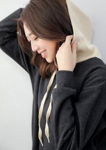 韓版配色帽厚棉刷毛上衣