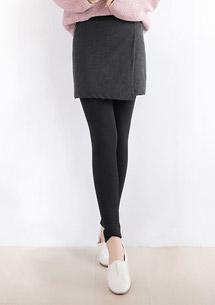 極暖加厚刷毛造型裙內搭褲