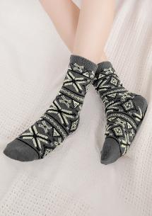 暖氛配色加厚保暖襪