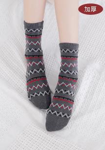 幾何圖騰加厚保暖襪