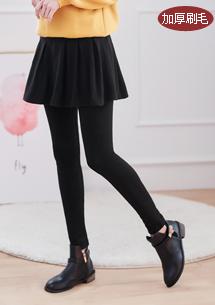 極暖百摺裙加厚刷毛內搭褲