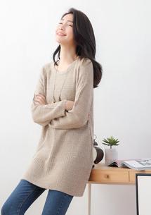 暖冬舒適混色針織毛衣