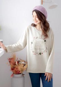 甜漾花圈厚棉刷毛上衣