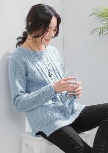 輕著限定麻花針織毛衣