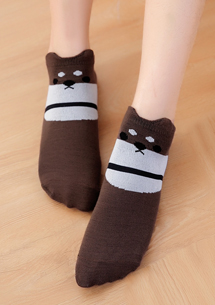 萌系柴犬舒適短襪