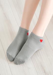 甜嫩愛心柔彈短襪