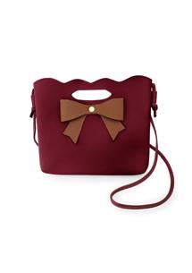 沁甜蝴蝶結斜揹手提包