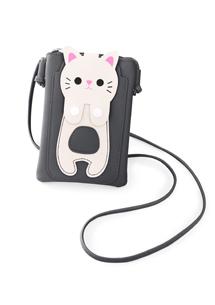 貓咪手機頸掛斜揹包