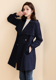 甜美氣質雙排釦風衣外套