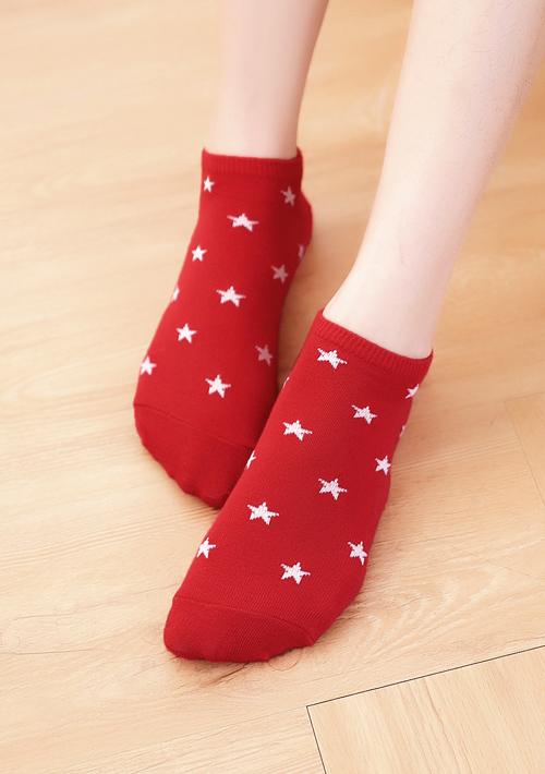 星星風潮棉柔短襪