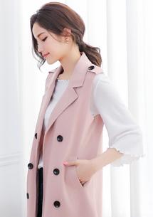 英式雙排釦質感外套