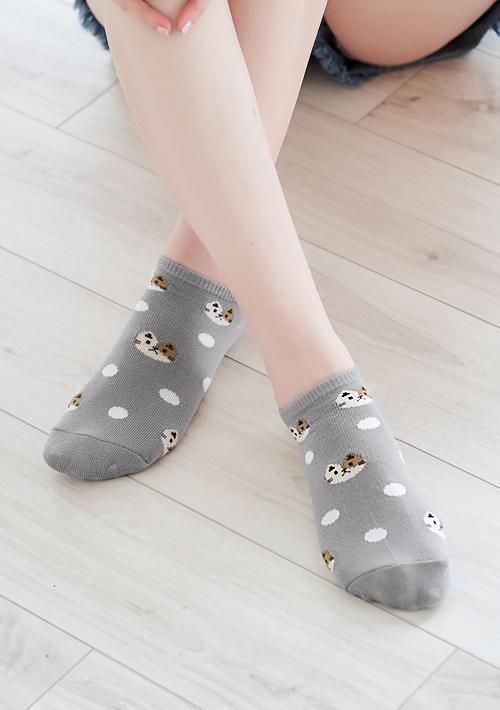 貓咪點點短襪