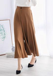 韓系風格雪紡寬褲裙
