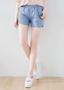 簡約舒適棉麻短褲