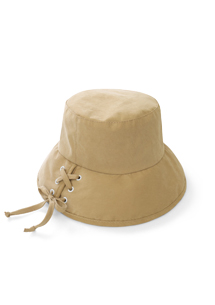 輕甜蝴蝶結綁帶帽