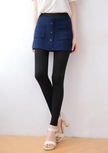 壓紋短裙彈力內搭褲
