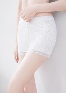 甜美雕花安全褲