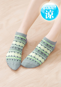 圖騰涼感短襪
