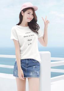 印花短袖竹節棉T恤
