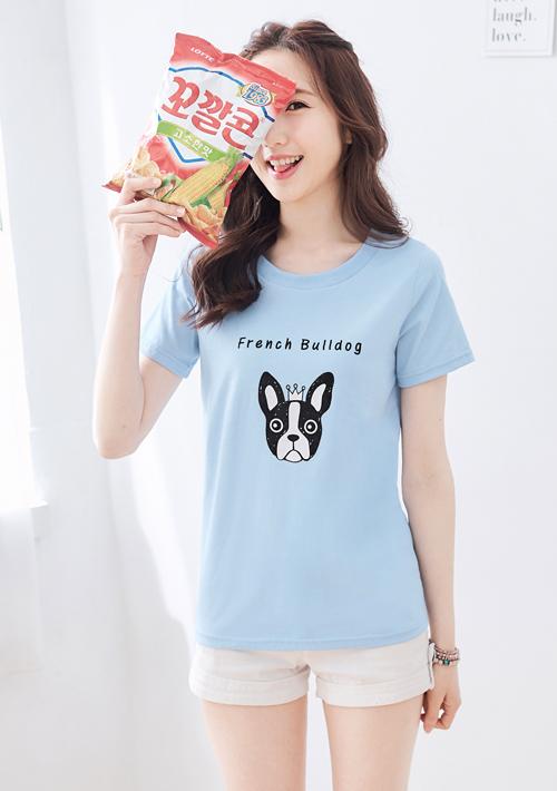 法鬥純棉圓領T恤