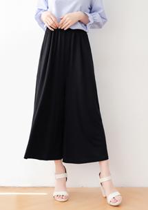 鬆緊腰寬版褲裙