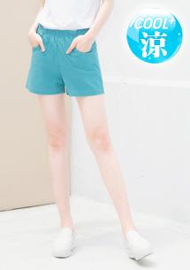 涼感短褲-水藍