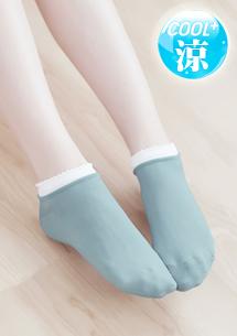 花邊涼感短襪