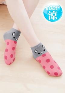 兔子涼感短襪