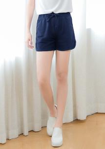 吸排短褲-深藍