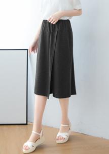 四面彈造型寬褲裙