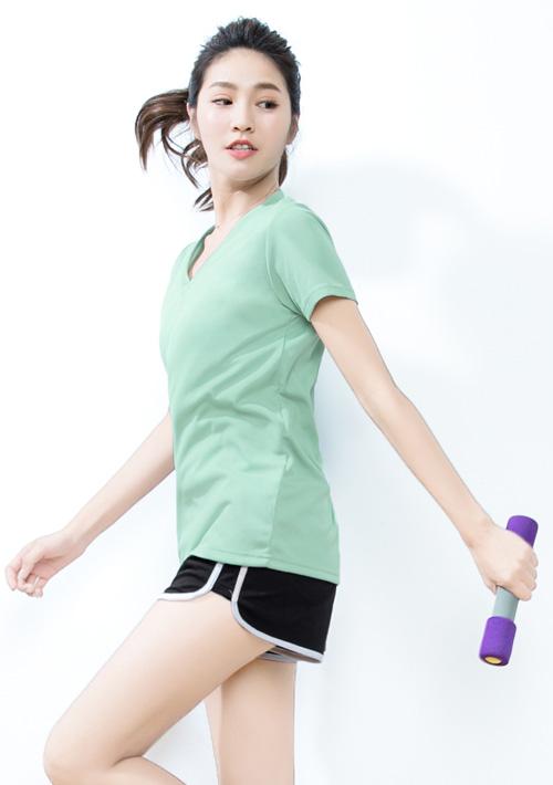 V領抗UV吸排T恤