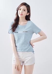 竹節棉印花T恤