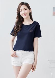 刺繡棉質T恤