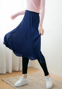 假兩件雪紡褲裙